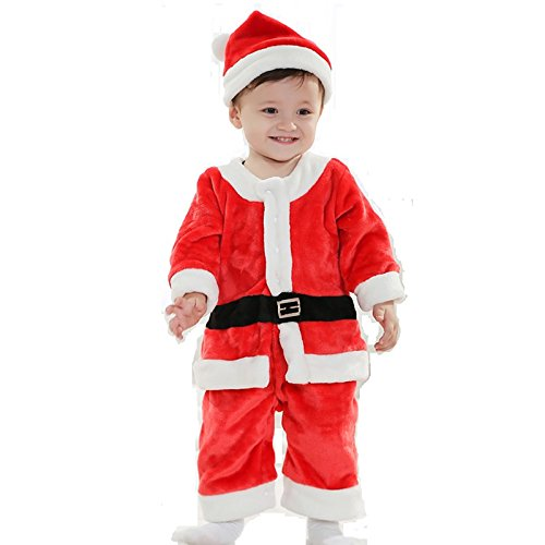 a98f7e56e Buy Mobison Santa Claus Dress for 1-2 Year Old Kids for Christmas Online at  Low Prices in India - Amazon.in