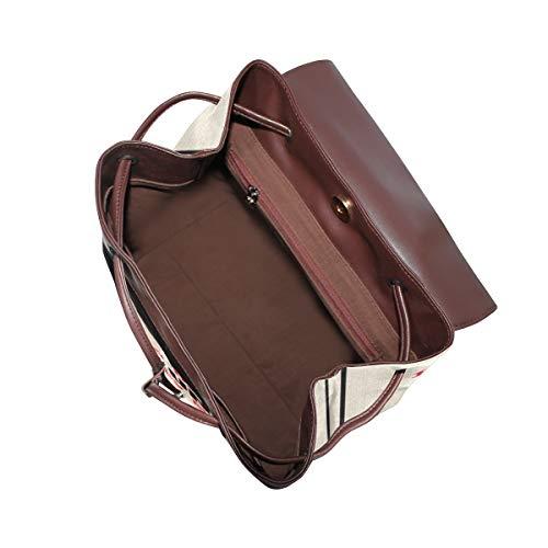 Kvinnor PU-läder tax ryggsäck handväska resa skola axelväska ledig dagväska