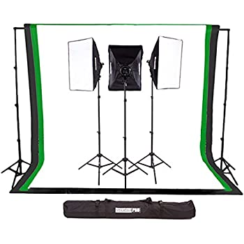 Fovitec StudioPRO 3000W Complete Photography Photo Video Studio Triple Light Softbox Continuous Lighting Kit with 6ft  sc 1 st  Amazon.com : backdrop and lighting kit - www.canuckmediamonitor.org