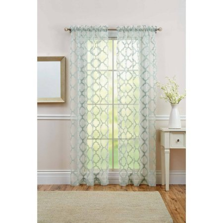 Curtain Panel Sheer Trellis 50