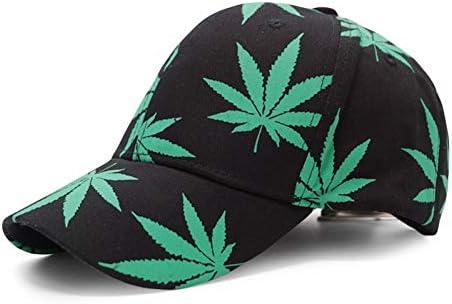 YUANBAOG Moda Hoja de Arce Gorra de béisbol Weed Hat Hueso Hombres ...