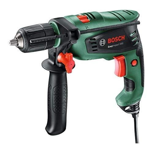 Bosch EasyImpact 550 - Taladro percutor (550 W, empuñadura adicional, tope de profundidad, maletín) a buen precio