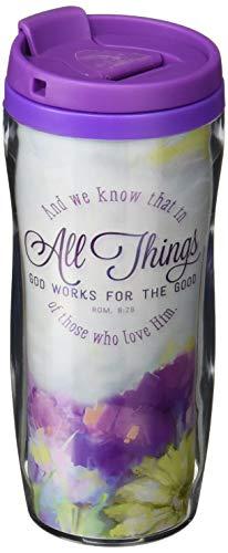 God Works Polymer Travel Mug – Romans 8:28