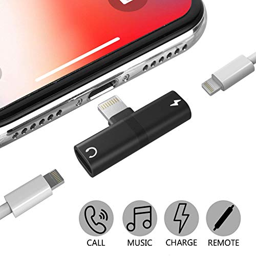 - Smart Tech Splitter 2 in 1 Lightning Adapter compatible with iPhone X/7/8/8 plus/9/10/11 version- 2 In 1 Dual port for Charging and Headphone music