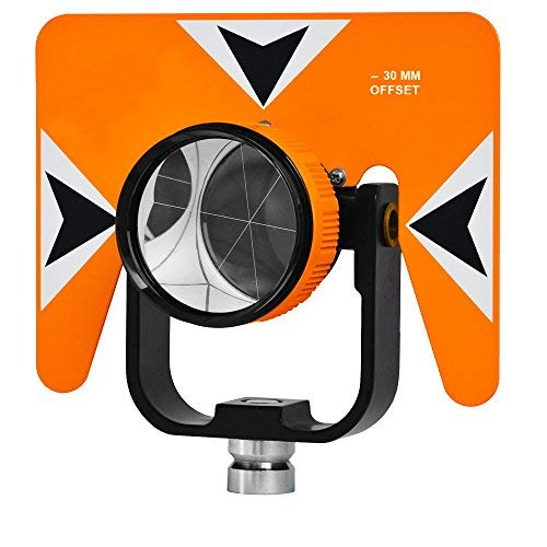 All-Metal 62mm Single Tilting Prism 0/-30mm Offset Total Station -