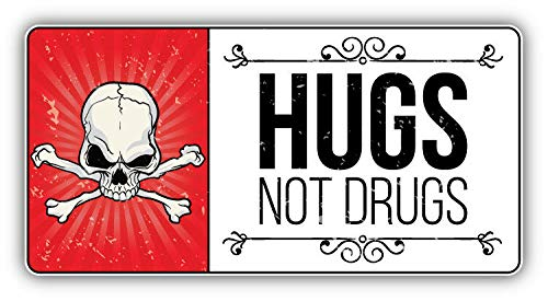 Magnet Anti Drug Grunge Slogan Hugs Not Drugs Vinyl Magnet Bumper Sticker Magnet Flexible Vinyl Magnetic 5