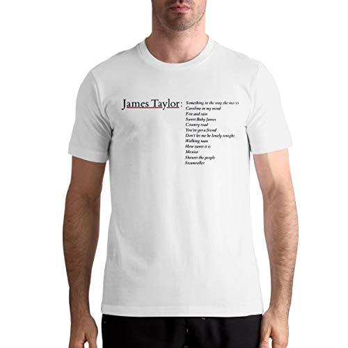 AlvaLynd Mens Tshirts Man's James Taylor Greatest Hits T Shirt White