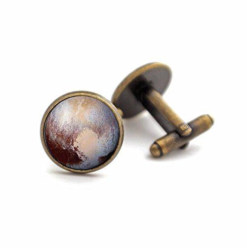 Yugen Space Cufflinks with Pluto (antique bronze)