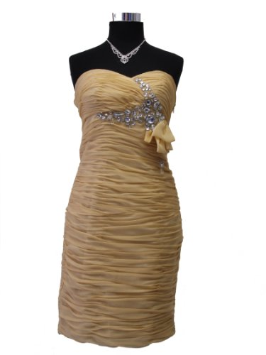 amp; Bustier mujer 44 amarillo para Vestido Vestido JuJu Christine wtq4Optd