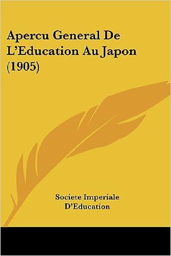 Lire Apercu General de L'Education Au Japon (1905) epub pdf