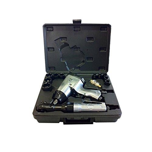 JBM 52156 - Pack de 16 piezas neumáticas con pistola y carraca impacto en estuche