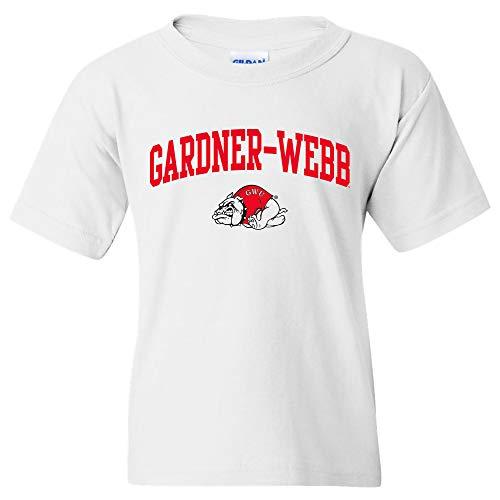 UGP Campus Apparel YS03 - Gardner-Webb Bulldogs Arch Logo Youth T-Shirt - X-Large - White
