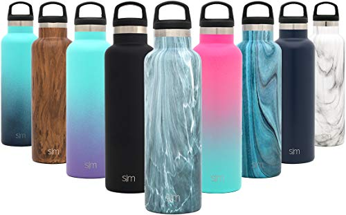Simple Modern 24oz Ascent Water Bottle - Stainless Steel Flask w/Handle Lid - Double Wall Vacuum Insulated - Leakproof Thermos Pattern: Reflection