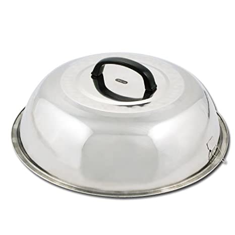 Winco WKCS-14 Stainless Steel Wok Cover, 13-3/4-Inch Winco USA