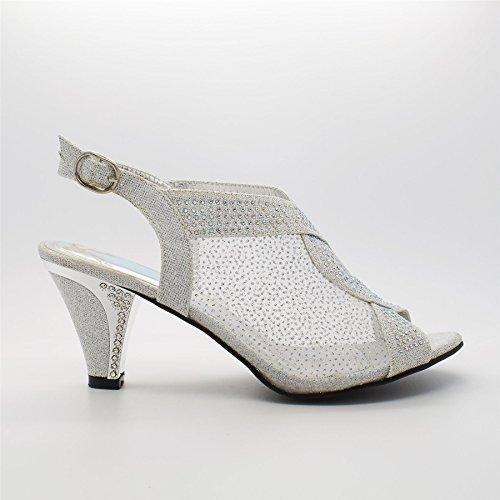 Footwear argent Bride London Argent femme de cheville d48wWAx7q