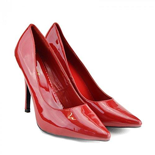 DRAG DI ALTO A DONNA DIMENSIONI Footwear QUEEN PUNTA Kick CORTE DI DI SCARPE CROSSDRESSER Red GRANDI NUOVA UOMO TACCO qHt88xO0