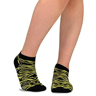 TeeHee Women's Acrylic No Show Low Cut Basic 12-Pack, (Neon Animal Printed) at Women's Clothing store