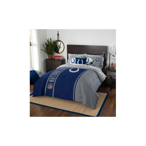 NFL Indianapolis Colts Soft & Cozy 7-Piece Full Size Bed in a Bag Set by Northwest