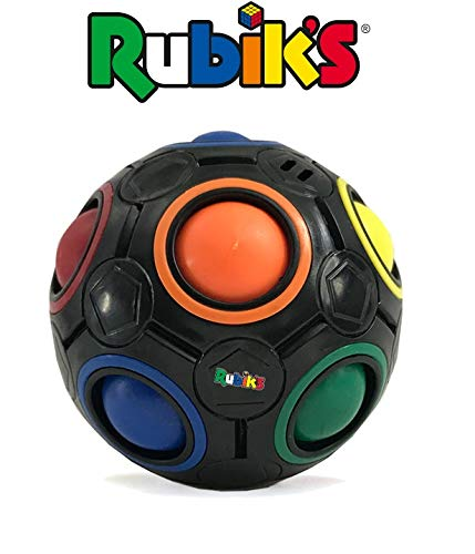 Rubik's Cube Rainbow Ball Color Matching Puzzle, Fun Addictive Educational Toy Gift for Adults & 4+ Kids, Develop Hands-On, Memory, Critical Thinking & Problem Solving Skills (Black) 41pPJK3YlpL