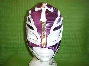 Rey Mysterio Máscara de Lucha WWE Disfraz Disfraz LILA Rayos mexicano lucha libre nuevo cremallera infantil