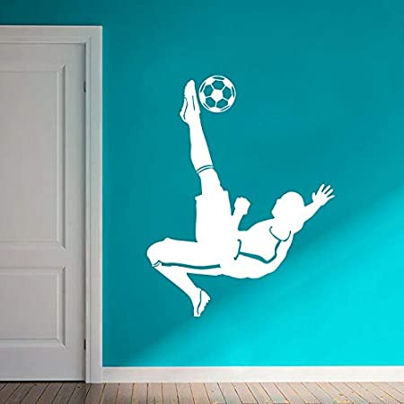 Soccer Goal Kick Tatuajes De Pared Jugador De Fútbol Upside Down ...