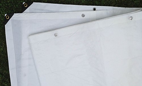 White Plastic Tarp - 6 Ft. X 8 Ft. Heavy Duty 6 Oz. White Tarp 11-12 Mil Thick