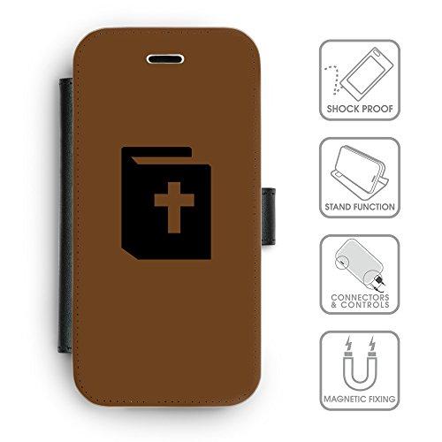 Flip PU Leather Wallet Case avec des fentes de carte de crédit // Q08450633 Religion 9 Sépia // apple iPhone 6s 2015