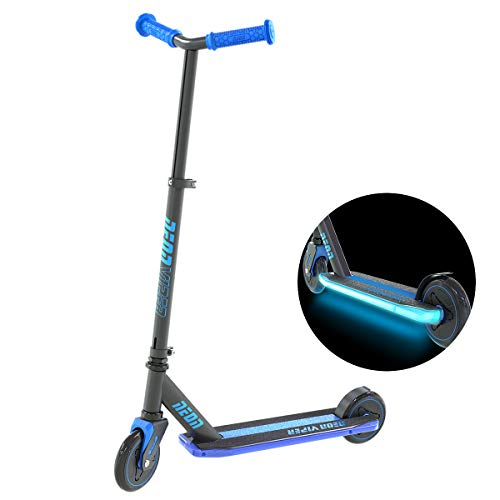 (Neon Viper Kids Light Up Deck Kick Scooter for Kids Age 5 and Up, Blue)