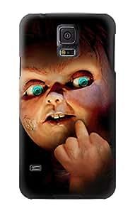 E2051 Chucky Middle Finger Funda Carcasa Case para Samsung Galaxy S5