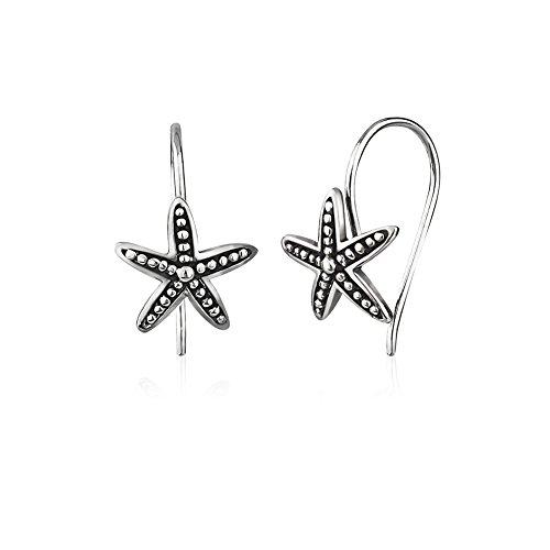 925 Sterling Silver Classic Starfish Sea Star Fun in the Sun Marine & Ocean Inspired Drop Earrings