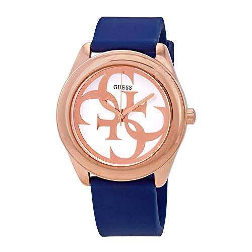 Guess G Twist Silver Dial Silicone Strap Ladies Watch W0911L6 (Watches Guess Ladies)