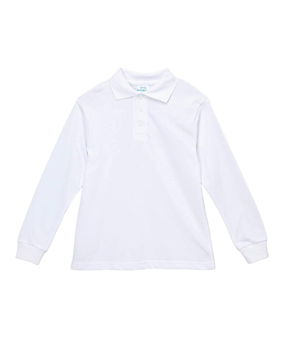 Amazon Unik Boys Uniform Pique Polo Shirt Short Sleeve White