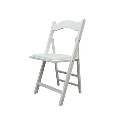 Folding chair Silla Plegable de Madera Blanca, Silla de ...