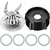 Kitchen & Housewares : 6 Pieces Blender Accessory Refresh Kit, Include 4961-011 Ice Blade Ice Crushing Blade, 4902 Jar Base Cap Blender Jar Cap and O-Gasket Rubber O-Ring Gasket Seal Compatible with Oster Blender