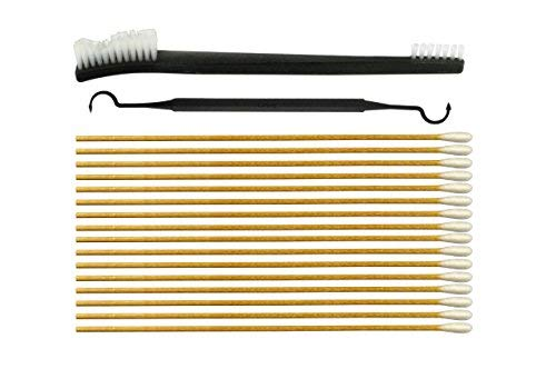 200 Piece 6 Inch Cotton Swabs, 7 Inch Double Ended Nylon Brush, and Double Ended Nylon Pick Set (Double Ended Swab)