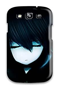 Hot Style LnmSOPM4789jPXGJ Protective Case Cover For Galaxys3(black Dark Black Rock Shootertwintails Hoodies Closed Pale Skin Bangs)