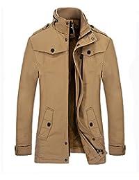 "<span class=""a-offscreen"">[Sponsored]</span>Men's Warm Leisure Jacket Stand Collar Windbreaker Trench Coat"