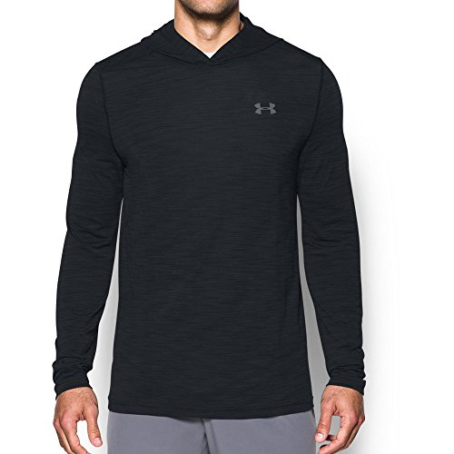 Under Armour Nylon Pullover (Under Armour Men's Threadborne Fleece ½ Zip Hoodie, Black/Graphite, Medium)