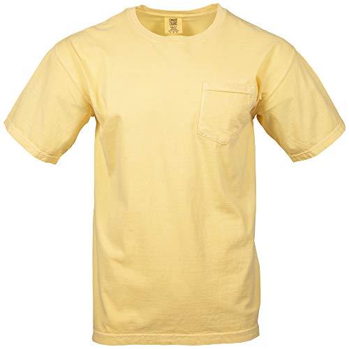 - Comfort Colors Men's Adult Short Sleeve Pocket Tee, Style 6030, Butter, Medium