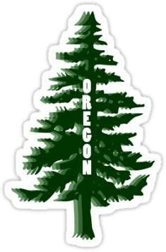Oregon Evergreen Trees Magnet