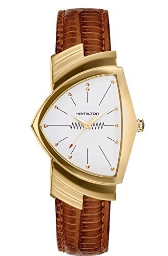 Men's Hamilton Ventura Quartz Brown Leather Strap Watch H24301511