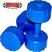 IRONLIFE FITNESS 2 KG X 2 PVC Dumbbells Weights Fitness Home Gym Exercise Barbell (Pack of 2) Light Heavy for Women & Men's Dumbbell (2X2)