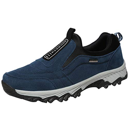 - iHPH7 Shoes New Shoes Mesh Shoes Leisure Sports Shoes are Breathable in Summer Shoe Men (43,Blue)