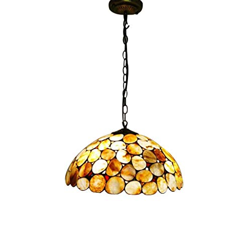 Tiffany Chandelier, 12-Inch Stained Glass Jade 1-Light Hanging Lamp for Living Room Villa Ceiling Decorative Lighting Pendant Lamp (Color : A)