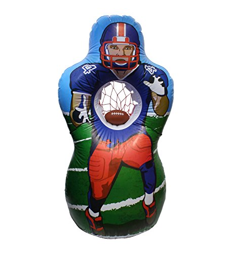 Get Out! American Football Practice Throwing Target Set – 5 Foot Inflatable Quarterback QB Net & Mini Football, Youth to Adult