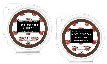 Bath and Body Works 2 Pack Hot Cocoa & Cream Wax Melt. 0.97 Oz / 27.5 g