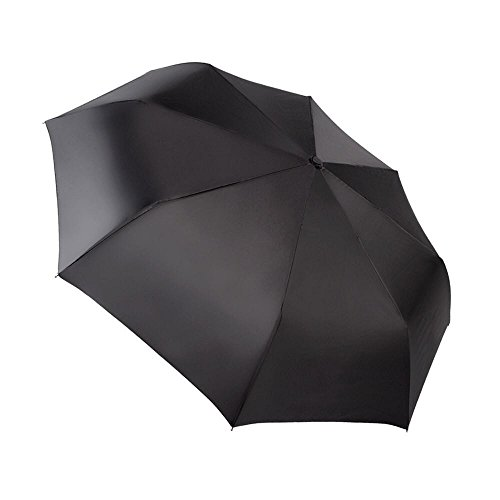 EXCEL-LEADER Unbreakable Windproof Golf Umbrella,Strong 8 Rib Frame Automatic & Convenient Compact One Hand Auto Open & Close Folding Umbrella,Black by EXCEL-LEADER