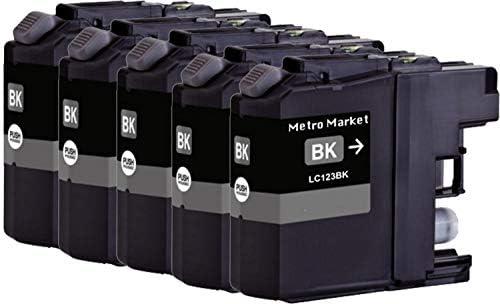 Metro Market 5 Piezas per LC123 Cartuchos de Tinta Compatible para ...