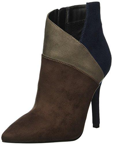 BUFFALO B334e-43 S0002 Imi Suede, Zapatillas de Estar por Casa para Mujer Multicolor - Mehrfarbig (Coffee 17)