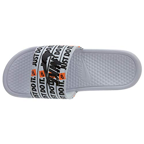 Chaussures de Homme JDI Benassi 102 Blanc Sport Nike Black Print White PUSnA